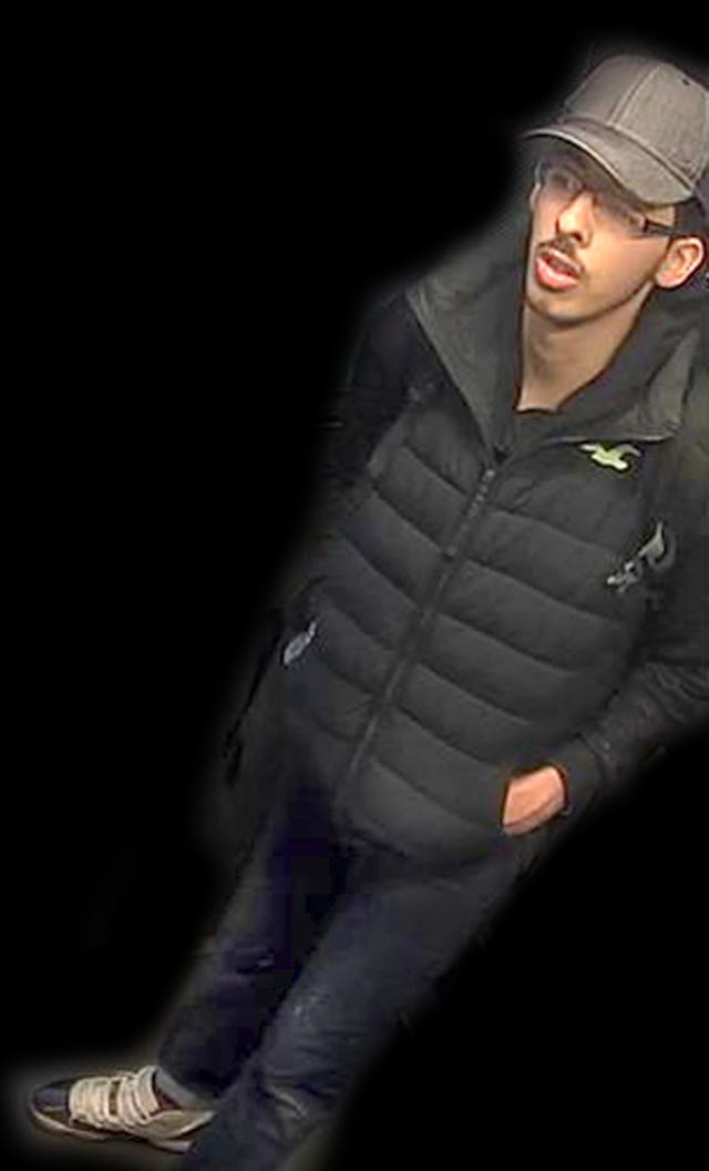 CCTV still of Salman Abedi on the night he carried out the Manchester Arena terror attack (Greater Manchester Police/PA)