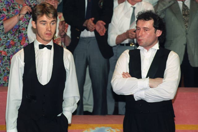 Stephen Hendry, left, and White had many memorable duels in the 1990s (Malcolm Croft/PA)