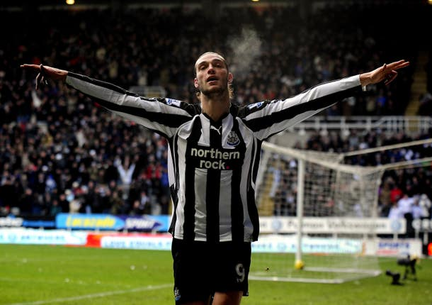 Andy Carroll is back on Tyneside