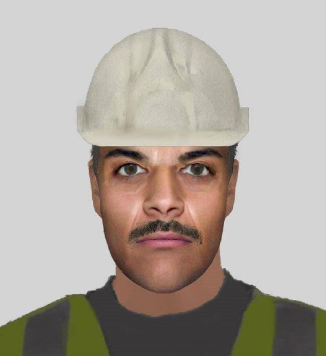 Undated handout image issued by Cleethorpes Community Policing Team of an e-fit released to try and catch a suspect who attempted to force his way into a house
