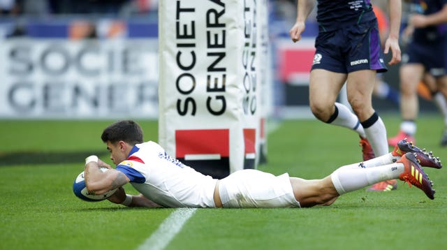 Romain Ntamack scored France's first try