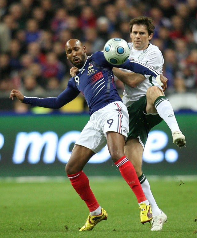 Nicolas Anelka (left) scored the only goal in the first leg in Dublin