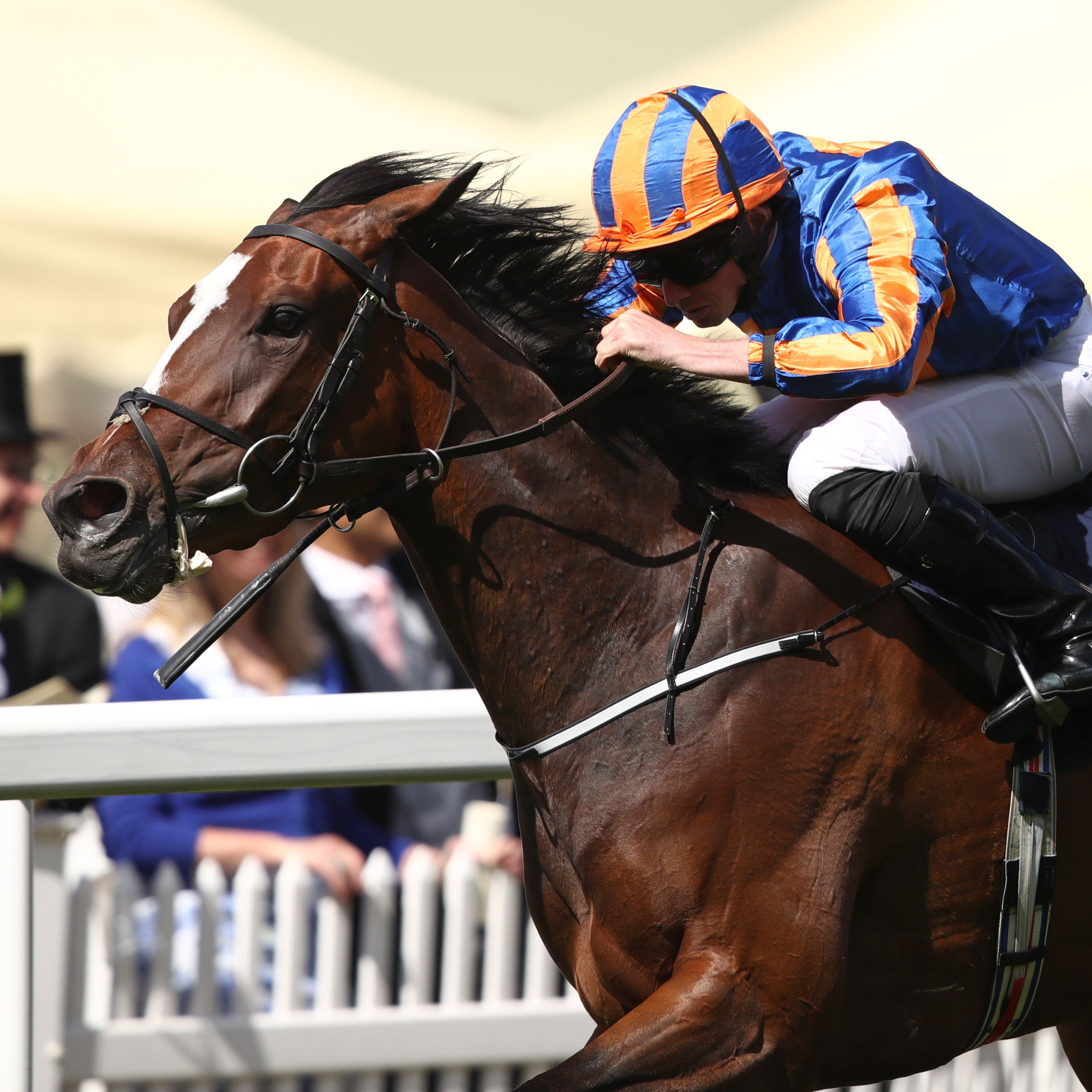 Magic Wand on her way to winning the Ribblesdale Stakes at Royal Ascot