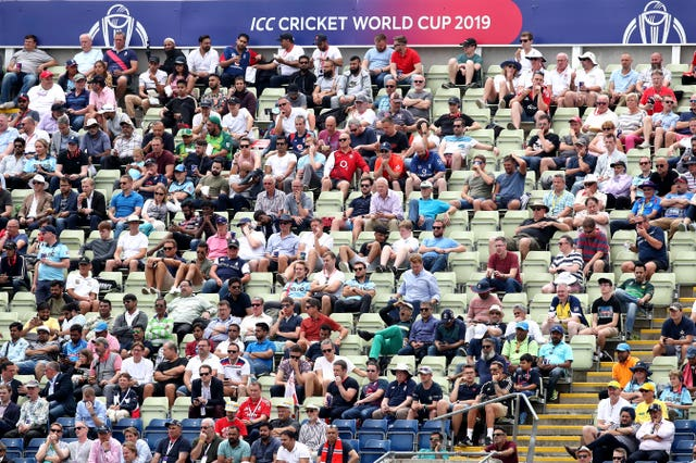 The Edgbaston crowd in the World Cup semi-final