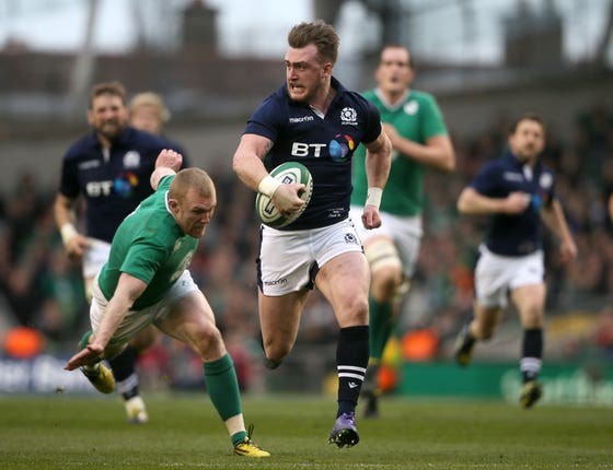 Scotland's Stuart Hogg produced a memorable moment in March 2016
