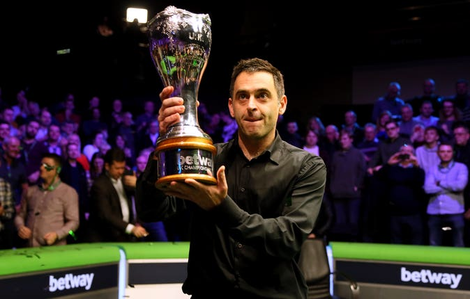 Ronnie O'Sullivan does not yet know whether he will defend his UK title (Richard Sellers/PA)