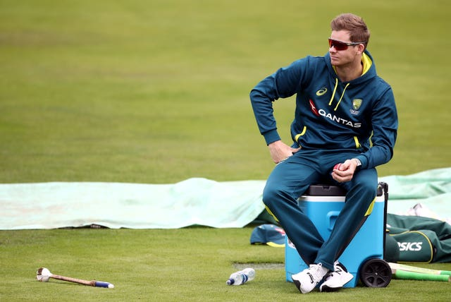 Steve Smith, right, will play no part in the Headingley Test