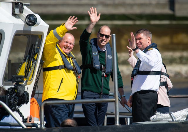 Duke of Cambridge Thames safety launch