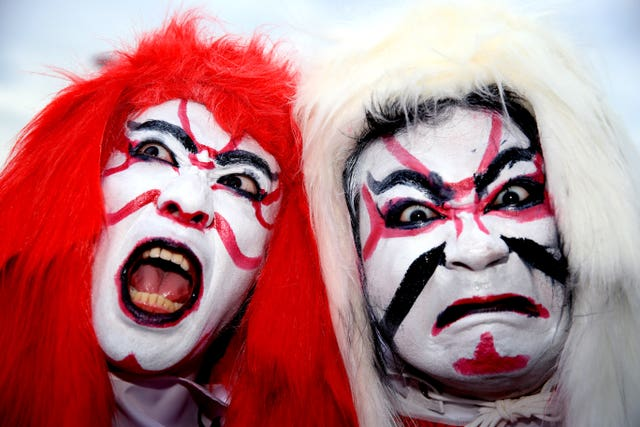 Japan fans ahead of the hosts' quarter-final against South Africa