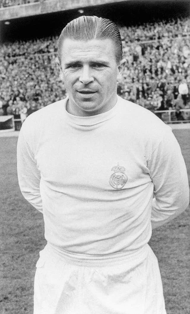 Ferenc Puskas played with distinction for Real Madrid