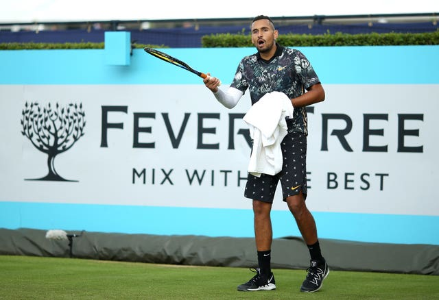 Nick Kyrgios was unhappy with the officials at Queen's Club