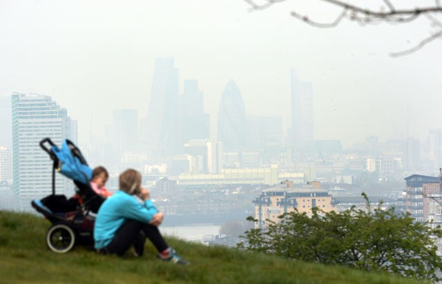 The WHO said four in five people living in urban areas have air quality levels below their recommended limits (Stefan Rousseau/PA)