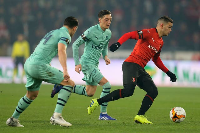 Hatem Ben Afra helped Rennes to victory over his former Paris St Germain  boss Unai Emery 98a2a56bb75