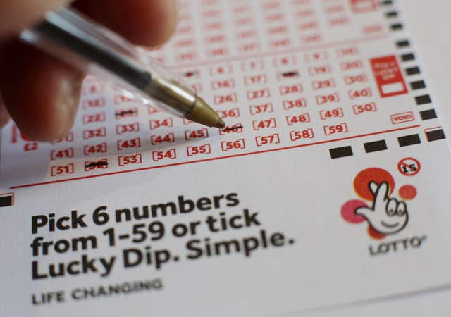 A National Lottery Lotto ticket.