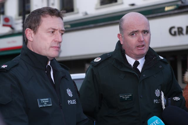 PSNI Superintendent Gordon McCalmont and Assistant Chief Constable Mark Hamilton
