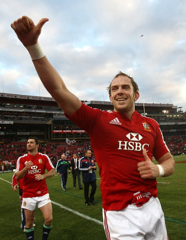 Alun Wyn Jones celebrates the Lions' third-Test win over South Africa in 2009