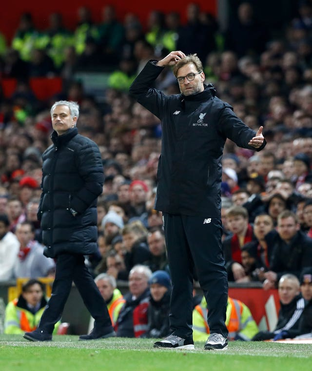 The most challenging fixture for Jurgen Klopp's Liverpool this month appears to be against Jose Mourinho's Manchester United