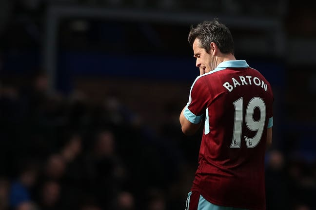 Joey Barton had returned to the Premier League with Burnley before his suspension.