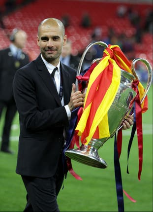 Guardiola won a second Champions League in 2011