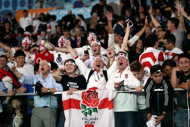 England's fans had plenty to celebrate