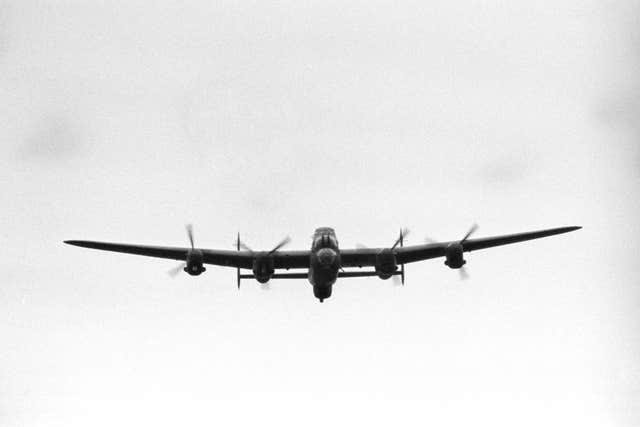 A Second World War RAF Lancaster bomber (PA)
