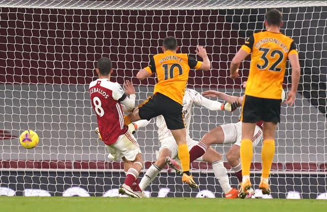 Daniel Podence scored what proved to be the winner for Wolves.
