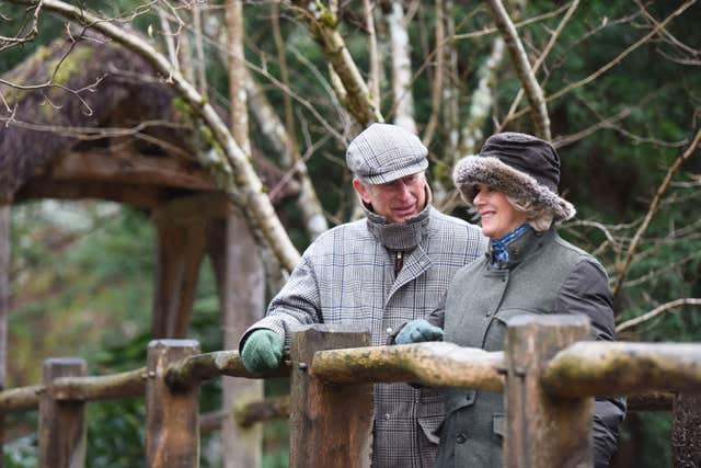 Charles and Camilla, pictured in their garden at Birkhall in Aberdeenshire in 2015, have been staying at their Scottish home for more than a week. Oliver Dann/PA Wire