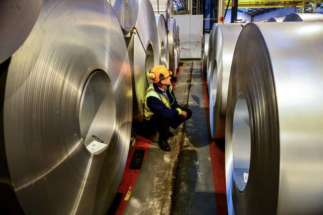The US announced a pause on the introduction of tariffs for steel exports (Ben Birchall/PA)
