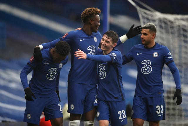 Chelsea's Tammy Abraham (centre) plundered a hat-trick in his side's 3-1 FA Cup fourth round victory over Luton