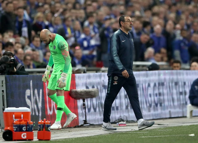 Maurizio Sarri and Willy Caballero