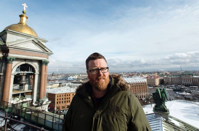 Frankie Boyle travelled to Russia to explore the myths and stereotypes surrounding the country before it hosts this summer's World Cup (BBC/PA)