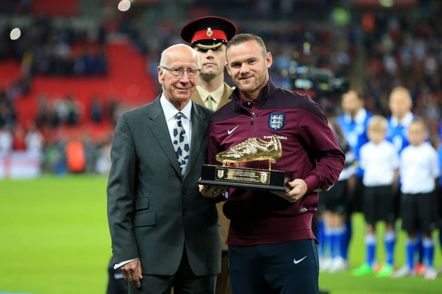 Wayne Rooney broke Sir Bobby Charlton's goalscoring record with England and Manchester United