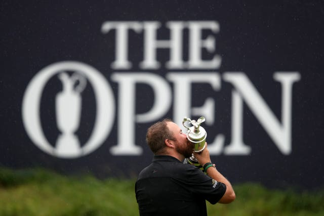 Shane Lowry celebrates with the Claret Jug after winning The Open