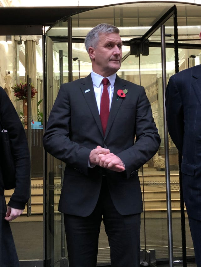 Dr Richard Freeman attends the hearing in 2019