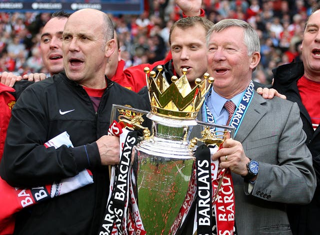 Mike Phelan (left) was United assistant manager for five years (Nick Potts/PA)
