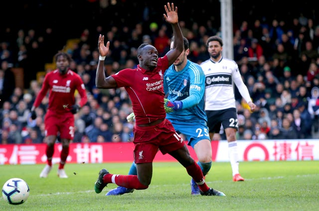 Sadio Mane earns Liverpool their late penalty