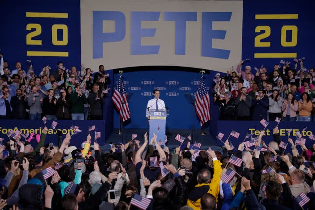 Pete Buttigieg announces that he will seek the Democratic presidential nomination during a rally in South Bend, Indiana