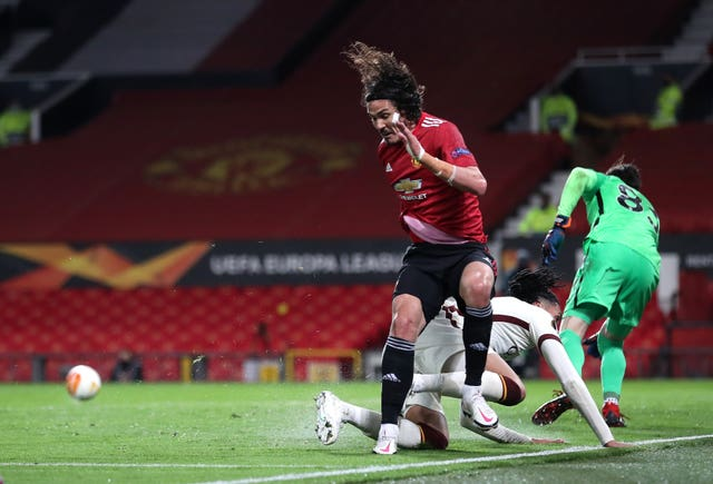 Edinson Cavani played a key role in Manchester United's win