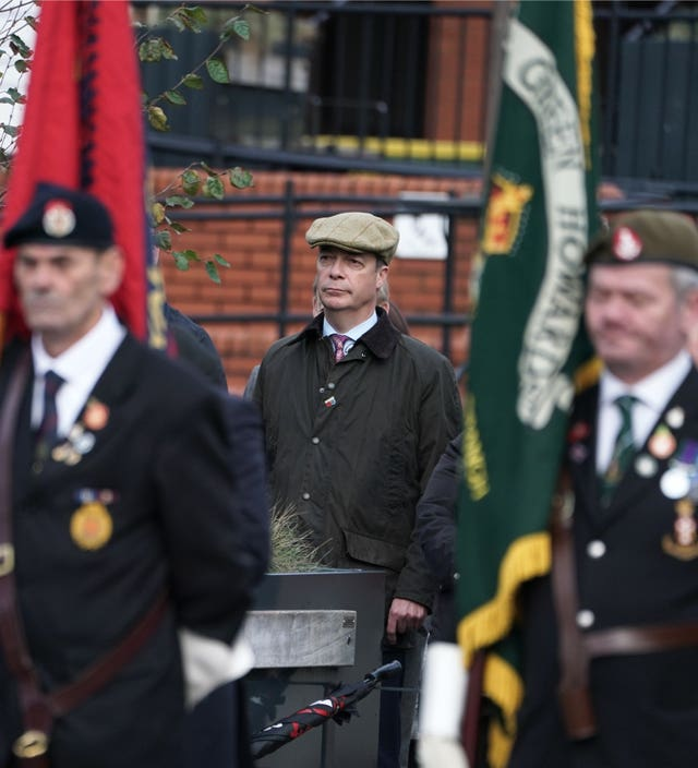 Brexit Party leader Nigel Farage attended commemorations in Hartlepool