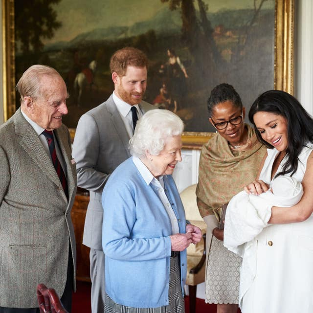 Archie has already spent time with Meghan's mother Doria Ragland and both the Queen the Duke of Edinburgh at Windsor Castle