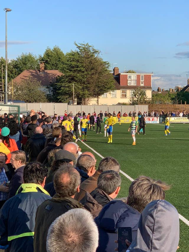 There was trouble at the FA Cup clash between Haringey and Yeovil (View From the Ninian