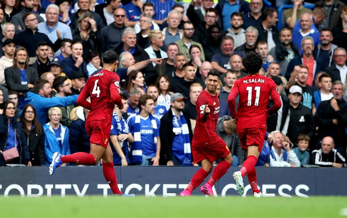 Roberto Firmino scored what proved to be the winning goal for Liverpool at Chelsea