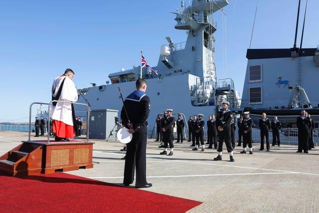 HMS Trent first deployment