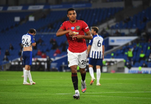 Mason Greenwood opened the scoring against Brighton on Tuesday
