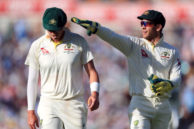 Australia captain Tim Paine, right, was guilty of poor decision-making