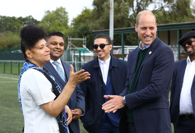 Duke of Cambridge visits Hendon FC