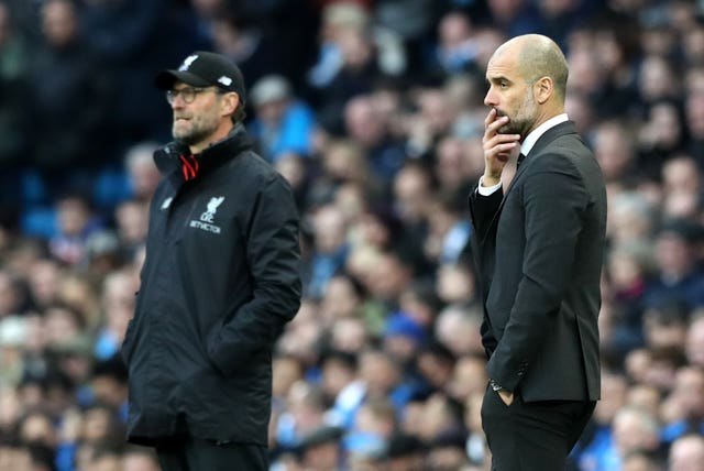 Klopp (left) believes City boss Guardiola is the best in the business