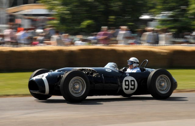 Sir Stirling Moss continued racing into his 80s