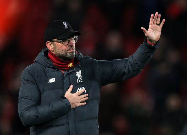 Jurgen Klopp has paid tribute to the NHS workers
