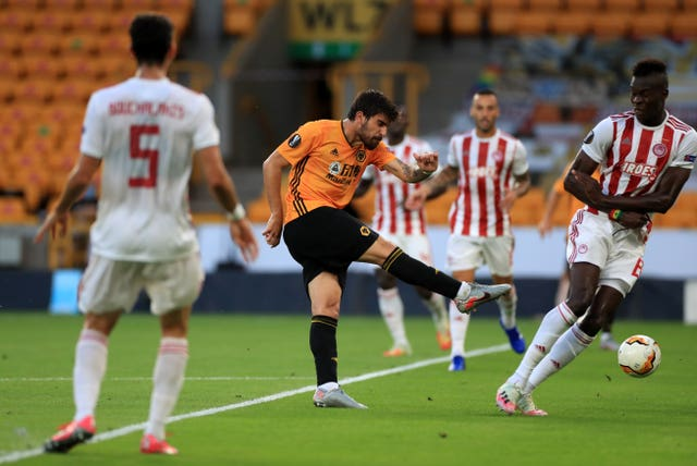 Ruben Neves has a shot on goal